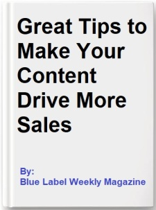 Great Tips to Make Your Content Drive More Sales book cover only