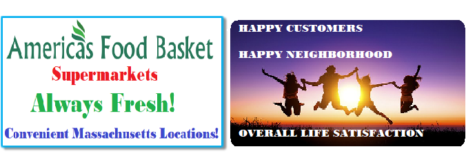 Happy Customers | Happy Neighborhood | Overall Life Satisfaction | BETTER LIFE | LONGEVITY | BETTER LIFE AND LONGEVITY | Superfoods and Their Benefits | Eat Healthy | Positive Energy Yields Positive Results! | Find Success in Life | America's Food Basket Supermarkets | AFB SUPERMARKETS | Convenient Locations in Massachusetts | Quality Food Products | Affordable Prices | Anatomy of a Healthy Plate | Developing Healthy Eating Patterns | Keeping Stress at Bay Naturally | Foods That Can Help Diminish Anxiety | Few Things You Should Always Buy at America's Food Basket | Shoppers love America's Food Basket Supermarkets | Rotisserie Chicken For The Win | Organic Options | Your Family's Health First | Cold Meats | Baked Goods | Produce | Freshness and Reliability | International Foods | Massachusetts locations International Foods | Cheers to Great Taste, Health, and savings! | [ https://afbmalaunchpad.com/ ]